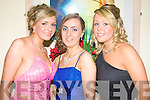 GLITZ & GLAM: Adding a touch of glitz and glam to the Kerry General Hospital Nurses Ball at the Ballyroe Heights Hotel, Tralee, on Thursday night were Orla McMahon, Yvonne Bovenizer and Mary O'Keeffe.
