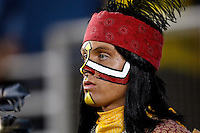 November 27, 2010:   Florida State Seminoles mascot Chief Osceola watches action between the ACC Conference Florida State Seminoles and the SEC Conference University of Florida Gators on Bobby Bowden Field at Doak Campbell Stadium in Tallahassee, Florida.   Florida State defeated Florida 31-7.