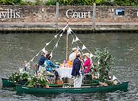 Henley Royal Regatta, Henley on Thames, Oxfordshire, 28 June - 2 July 2017.  Wednesday  17:50:43   28/06/2017  [Mandatory Credit/Intersport Images]<br /> <br /> Rowing, Henley Reach, Henley Royal Regatta.<br /> <br /> Floating Picnic at Henley