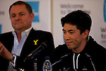 Pix: Shaun Flannery/SWpix.com<br /> <br /> 28th April 2016<br /> Tour de Yorkshire 2016<br /> Press Conference<br /> Yorkshire Air Museum, Yorkshire, England<br /> Caleb Ewan, Orica GreenEDGE