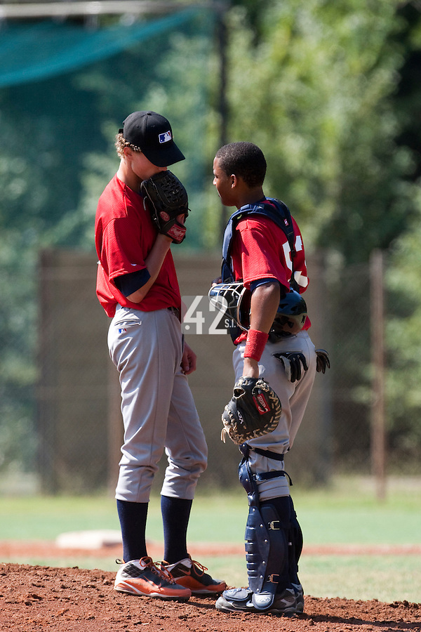 Baseball - MLB European Academy - Tirrenia (Italy) - 21/08/2009 - Andy Paz (France), Scott Ronnenbergh (Netherlands)
