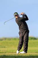 Thriston Lawrence (South Africa) on the 12th tee during Round 3 of The Irish Amateur Open Championship in The Royal Dublin Golf Club on Saturday 10th May 2014.<br /> Picture:  Thos Caffrey / www.golffile.ie