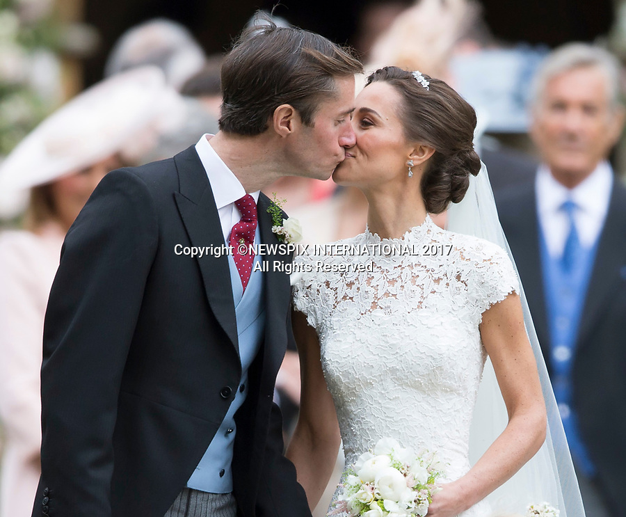 20.05.2017; Englefield, UK: PIPPA MIDDLETON AND JAMES MATHEWS WEDDING<br /> at St Mark's Church, Englefield.<br /> The church service was attended by the Duke and Duchess of Cambridge, Prince George, Princess Charlotte and Princess Eugenie.<br /> Mandatory Photo Credit: &copy;Francis Dias/NEWSPIX INTERNATIONAL<br /> <br /> IMMEDIATE CONFIRMATION OF USAGE REQUIRED:<br /> Newspix International, 31 Chinnery Hill, Bishop's Stortford, ENGLAND CM23 3PS<br /> Tel:+441279 324672  ; Fax: +441279656877<br /> Mobile:  07775681153<br /> e-mail: info@newspixinternational.co.uk<br /> Usage Implies Acceptance of OUr Terms &amp; Conditions<br /> Please refer to usage terms. All Fees Payable To Newspix International