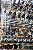 CANADA, Vancouver, British Columbia, racks of wine on display at the Four Seasons restaurant Yew