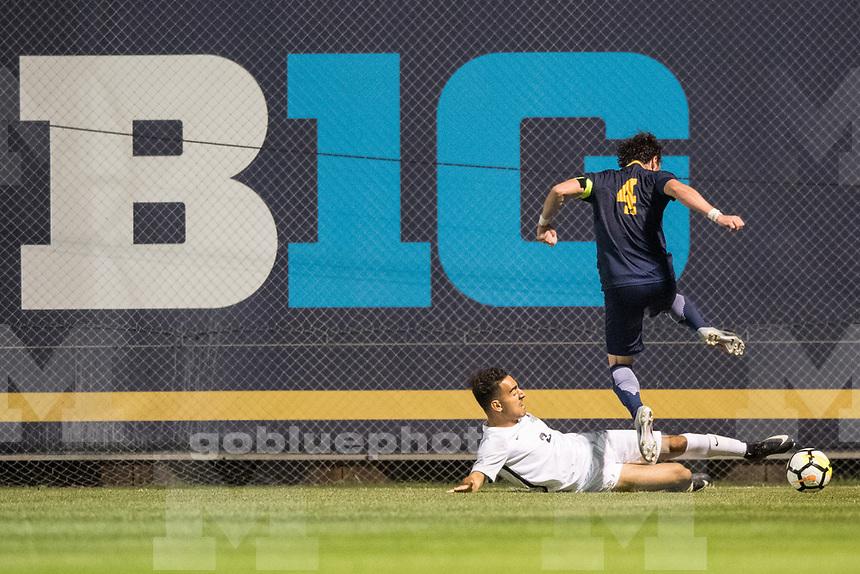 Michigan men's soccer defeats Cleveland State, 3-1, at U-M Soccer Stadium in Ann Arbor, MI on September 1, 2017.