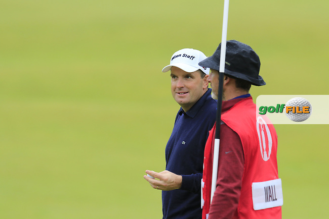 Anthony Wall (ENG) on the 18th green during Monday's Final Round of the 144th Open Championship, St Andrews Old Course, St Andrews, Fife, Scotland. 20/07/2015.<br /> Picture Eoin Clarke, www.golffile.ie