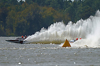 "Pierre Lavigne, GP-982 ""Concordia"" and Chris Hall, H-97 ""Bluewater Special"" (2-seat 7 Litre Div I class Lauterbach hydroplane)"