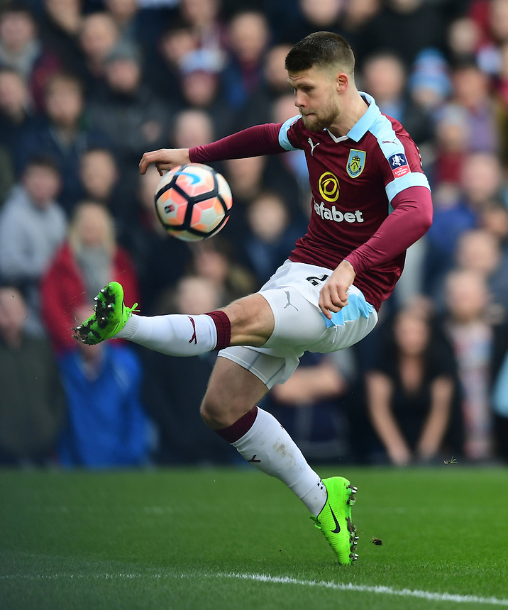 Burnley's Johann Gudmundsson<br /> <br /> Photographer Chris Vaughan/CameraSport<br /> <br /> Emirates FA Cup Fifth Round - Burnley v Lincoln City - Saturday 18th February 2017 - Turf Moor - Burnley <br />  <br /> World Copyright &copy; 2017 CameraSport. All rights reserved. 43 Linden Ave. Countesthorpe. Leicester. England. LE8 5PG - Tel: +44 (0) 116 277 4147 - admin@camerasport.com - www.camerasport.com