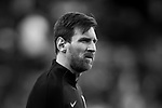 Lionel Andres Messi of FC Barcelona warms up prior to the La Liga 2017-18 match between Real Madrid and FC Barcelona at Santiago Bernabeu Stadium on December 23 2017 in Madrid, Spain. Photo by Diego Gonzalez / Power Sport Images