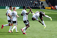 18th July 2020; Craven Cottage, London, England; English Championship Football, Fulham versus Sheffield Wednesday; Neeskens Kebano of Fulham celebrates his second goal for 4-1 in the 73rd minute