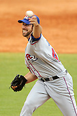 Round Rock Express starting pitcher Zach Jackson #47 delivers a pitch during a game versus the Memphis Redbirds at Autozone Park on April 30, 2011 in Memphis, Tennessee.  Memphis defeated Round Rock by the score of 10-7.  Photo By Mike Janes/Four Seam Images