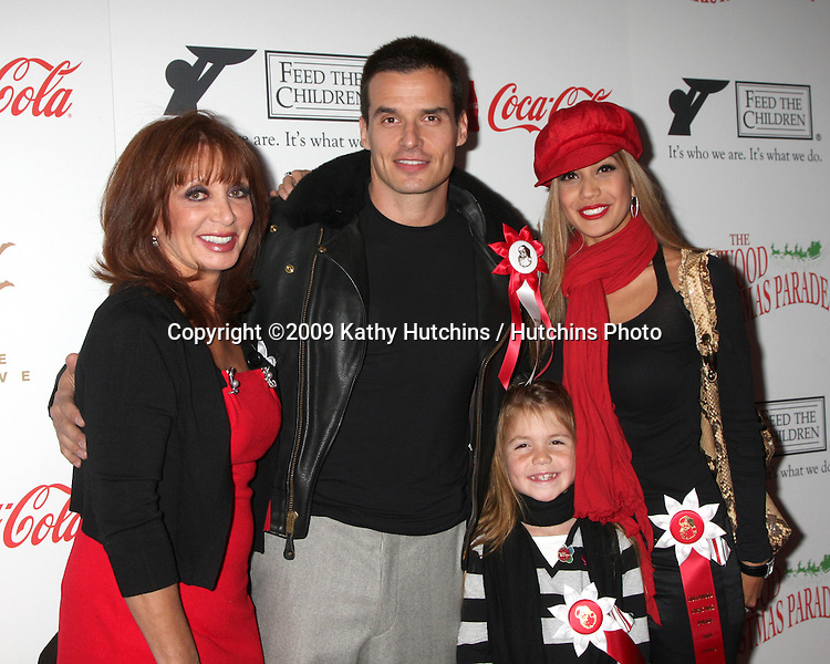 Antonio Sabato Jr, mom, daughter, and date.arriving at the 2009 Hollywood Christmas Parade .Hollywood Roosevelt Hotel.Los Angeles,  CA.November 29, 2009.©2009 Kathy Hutchins / Hutchins Photo.