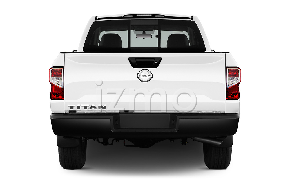 Straight rear view of 2017 Nissan Titan S-Single 2 Door Pick-up Rear View  stock images