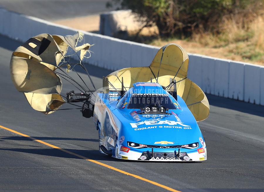 Jul 29, 2017; Sonoma, CA, USA; NHRA funny car driver John Force during qualifying for the Sonoma Nationals at Sonoma Raceway. Mandatory Credit: Mark J. Rebilas-USA TODAY Sports