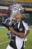 DC United goalkeeper Louis Crayton (27) kisses the US Open Cup, DC United defeated The Charleston Battery 2-1, to win the  Lamar Hunt U.S. Open Cup at RFK Stadium in Washington DC, Saturday September 3, 2008.