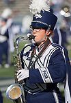 Nevada bandmember before their NCAA college football game against San Jose State in Reno, Nev. Saturday, Nov. 11, 2017. (AP Photo/Tom R. Smedes)