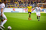 11.05.2019, Signal Iduna Park, Dortmund, GER, 1.FBL, Borussia Dortmund vs Fortuna Düsseldorf, DFL REGULATIONS PROHIBIT ANY USE OF PHOTOGRAPHS AS IMAGE SEQUENCES AND/OR QUASI-VIDEO<br /> <br /> im Bild | picture shows:<br /> Kevin Stoeger (Fortuna #22) fordert den Ball, <br /> <br /> Foto © nordphoto / Rauch