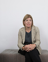 "Claire Messud is an American novelist and literature and creative writing professor. She is best known as the author of the novel ""The Emperor's Children."" She was photographed in her publisher's offices at Hachette UK. Messud has a new book comin out ""The Burning Child"""
