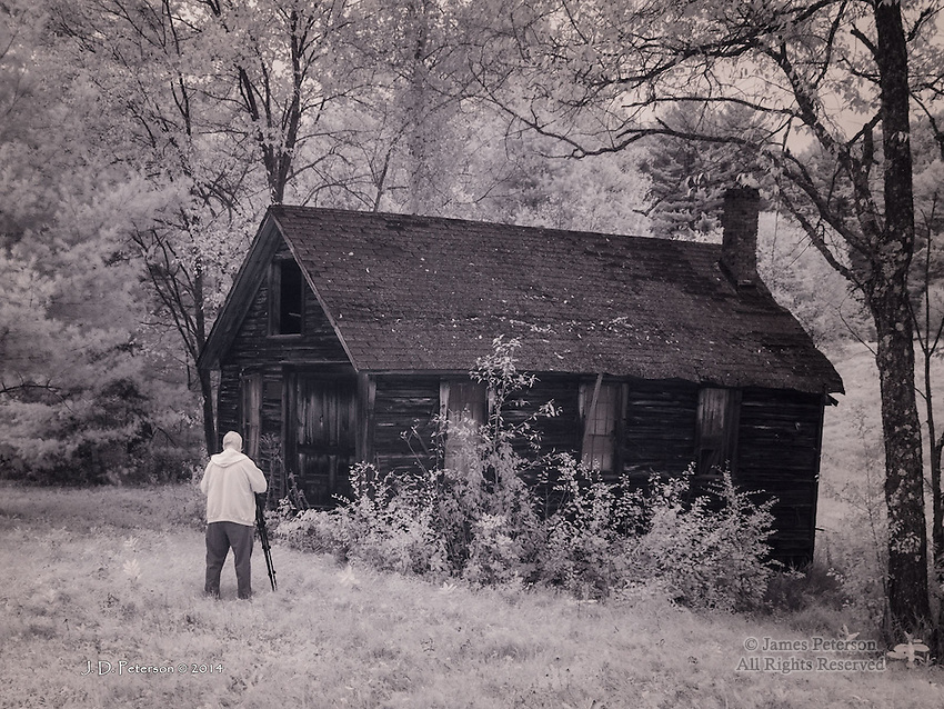 Fred and Cabin, Grantham, NH (Infrared)