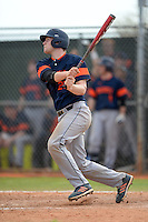 Bucknell Bison catcher Jon Mayer (25) during a game against the Illinois State Redbirds on March 8, 2015 at South County Field in Punta Gorda, Florida.  Bucknell defeated Illinois State 13-8.  (Mike Janes/Four Seam Images)