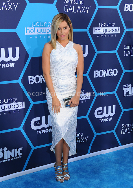 ACEPIXS.COM<br /> <br /> July 27 2014, LA<br /> <br /> Actress Ashley Tisdale arriving at the 2014 Young Hollywood Awards at The Wiltern on July 27, 2014 in Los Angeles, California. <br /> <br /> By Line: Peter West/ACE Pictures<br /> <br /> ACE Pictures, Inc.<br /> www.acepixs.com<br /> Email: info@acepixs.com<br /> Tel: 646 769 0430