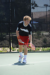 SAN DIEGO, CA - APRIL 24:  Gavin Leon of the Saint Marys Gaels during the WCC Tennis Championships at the Barnes Tennis Center on April 24, 2010 in San Diego, California.
