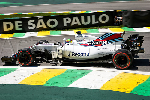 10th November 2017, Autodromo Jose Carlos Pace, Sao Paolo, Brazil; F1 Grand Prix of Brazil, Free practise sessions; 19 Felipe Massa (BRA, Williams Martini Racing), Sao Paulo Brazil