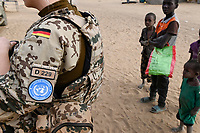MALI, Gao, Minusma UN mission, Camp Castor, german army Bundeswehr on patrol in Gao city / Deutsche Bundeswehr UN Mission Minusma in Mali, Patrouille in Gao