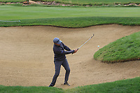 Chris Hanson (ENG) plays out of a bunker onto the 1st green during Round 2 of the D+D Real Czech Masters at the Albatross Golf Resort, Prague, Czech Rep. 02/09/2017<br /> Picture: Golffile | Thos Caffrey<br /> <br /> <br /> All photo usage must carry mandatory copyright credit     (&copy; Golffile | Thos Caffrey)