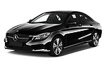 2018 Mercedes Benz CLA Coupe Business Solution 4 Door Sedan angular front stock photos of front three quarter view