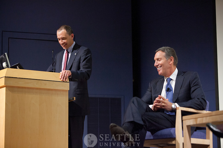 April 10, 2012 - Howard Schultz, CEO of Starbucks was the featured speaker at the Albers Executive Speaker Series event.