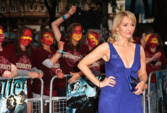 """WWW.ACEPIXS.COM . . . . .  ..... . . . . US SALES ONLY . . . . .....July 7 2009, London....JK Rowling at the World Premiere of """"Harry Potter And The Half-Blood Prince"""" held at the Empire Leicester Square on July 7 2009 in London....Please byline: FAMOUS-ACE PICTURES... . . . .  ....Ace Pictures, Inc:  ..tel: (212) 243 8787 or (646) 769 0430..e-mail: info@acepixs.com..web: http://www.acepixs.com"""