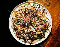 An Okonomiyaki dish at The Way Back restaurant in Denver, Colorado, Friday, January 11, 2019. <br /> <br /> Photo by Matt Nager