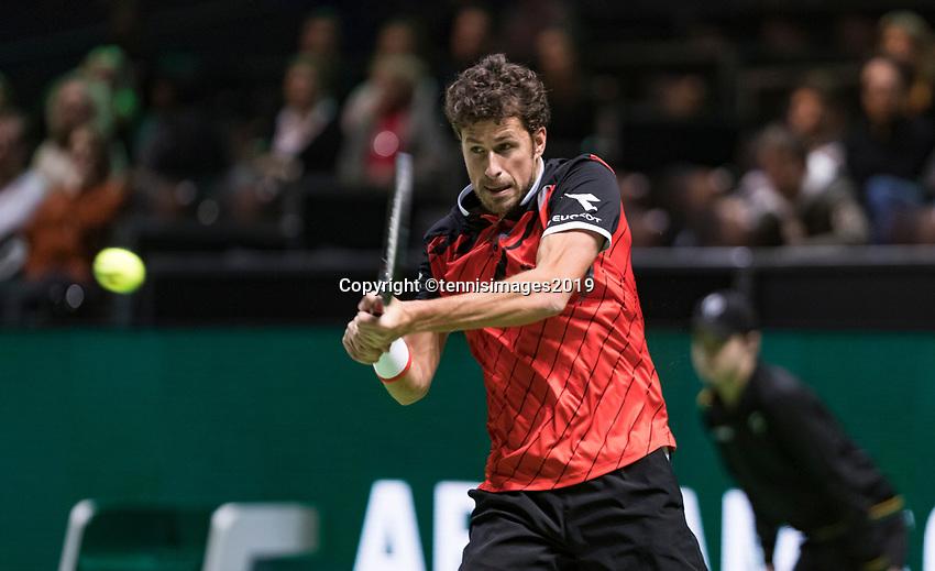 Rotterdam, The Netherlands, 11 Februari 2019, ABNAMRO World Tennis Tournament, Ahoy, first round match: Robin Haase (NED),<br /> Photo: www.tennisimages.com/Henk Koster