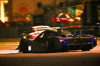 Night action at the 12 Hours of Sebring, Sebring International Raceway, Sebring, FL, March 2014.  (Photo by Brian Cleary/www.bcpix.com)