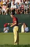 Sergio GARCIA (SPAIN) verabschiedet sich von den Zuschauern, 4.Runde, 88th PGA Championship Golf, Medinah Country Club, IL, USA