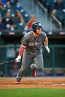 Lehigh Valley IronPigs left fielder Cody Asche (31) at bat during a game against the Buffalo Bisons on August 29, 2016 at Coca-Cola Field in Buffalo, New York.  Buffalo defeated Lehigh Valley 3-2.  (Mike Janes/Four Seam Images)