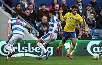 Leeds United's Tyler Roberts sidesteps Queens Park Rangers' Tyler Jordan Cousins<br /> <br /> Photographer Andrew Kearns/CameraSport<br /> <br /> The Emirates FA Cup Third Round - Queens Park Rangers v Leeds United - Sunday 6th January 2019 - Loftus Road - London<br />  <br /> World Copyright &copy; 2019 CameraSport. All rights reserved. 43 Linden Ave. Countesthorpe. Leicester. England. LE8 5PG - Tel: +44 (0) 116 277 4147 - admin@camerasport.com - www.camerasport.com