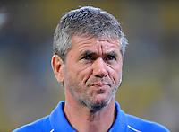 Fussball, 2. Bundesliga, Saison 2011/12, SG Dynamo Dresden - Vfl Bochum, Montag (12.09.11), gluecksgas Stadion, Dresden. Bochums Trainer Friedhelm Funkel.