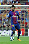 League Santander 2017/2018. Game: 01.<br /> FC Barcelona vs Real Betis: 2-0.<br /> Samuel Umtiti.