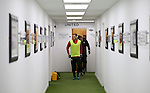 Billy Sharp of Sheffield Utd leads the players out for warm up during the English League One match at Bramall Lane Stadium, Sheffield. Picture date: November 29th, 2016. Pic Simon Bellis/Sportimage