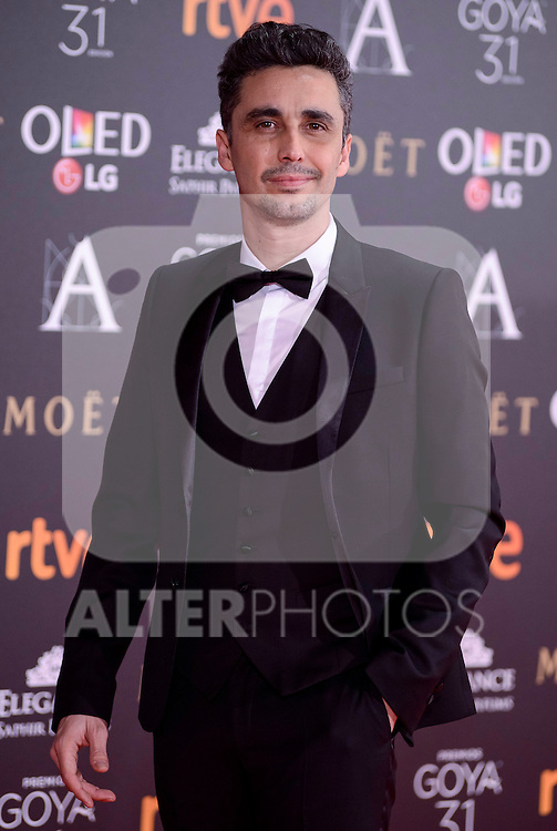 Canco Rodriguez attends to the Red Carpet of the Goya Awards 2017 at Madrid Marriott Auditorium Hotel in Madrid, Spain. February 04, 2017. (ALTERPHOTOS/BorjaB.Hojas)