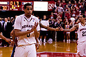 11 January 2012: Toney McCray #0 of the Nebraska Cornhuskers happy with the win over the Penn State Nittany Lions at the Devaney Sports Center in Lincoln, Nebraska. Nebraska defeated Penn State 70 to 58.