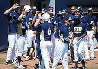Florida International University outfielder Nathan Burns (6) plays against ULM. FIU won the game 8-6 on April 1, 2012 at Miami, Florida.