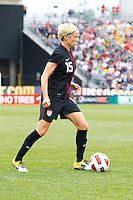 14 MAY 2011: USA Women's National Team midfielder Megan Rapinoe (15) during the International Friendly soccer match between Japan WNT vs USA WNT at Crew Stadium in Columbus, Ohio.