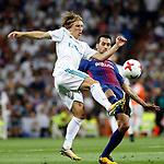 Supercopa de Espa&ntilde;a - Vuelta<br /> R. Madrid vs FC Barcelona: 2-0.<br /> Luka Modric vs Sergio Busquets.