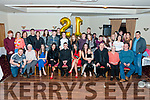Aodhín Mullins from Lixnaw celebrated her 21st birthday with her partner Niall McGuire, parents Jim and Lorraine, sisters Joyce and Hannah, grandmother Bernie, family and friends at Kerins O'Rahilly's GAA Club, Tralee on Saturday night.