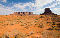 A view of Monument Valley.