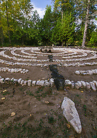 The Clearing Labyrinth invites one to walk the grid in quite solitude and contemple the day, and resist the urge to skip a stone and speed up the process!  The Clearing, Ellison Bay, Door County, Wisconsin
