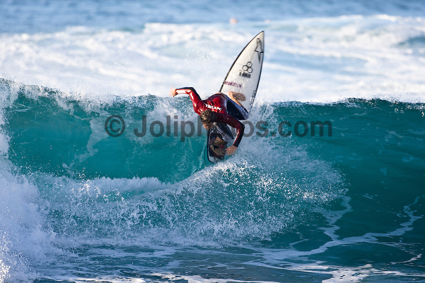 NATHANIEL CURRAN (USA) surfing at Rocky Point on the North Shore of Oahu, Hawaii. Photo: joliphotos.com